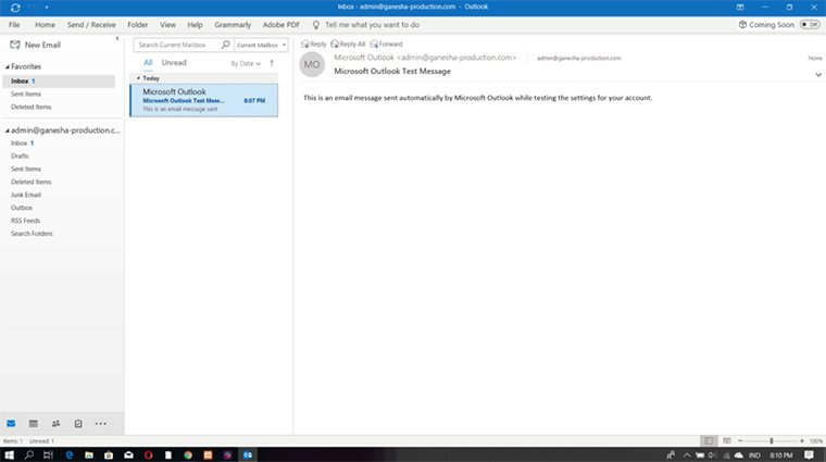 interface do microsoft outlook 2016