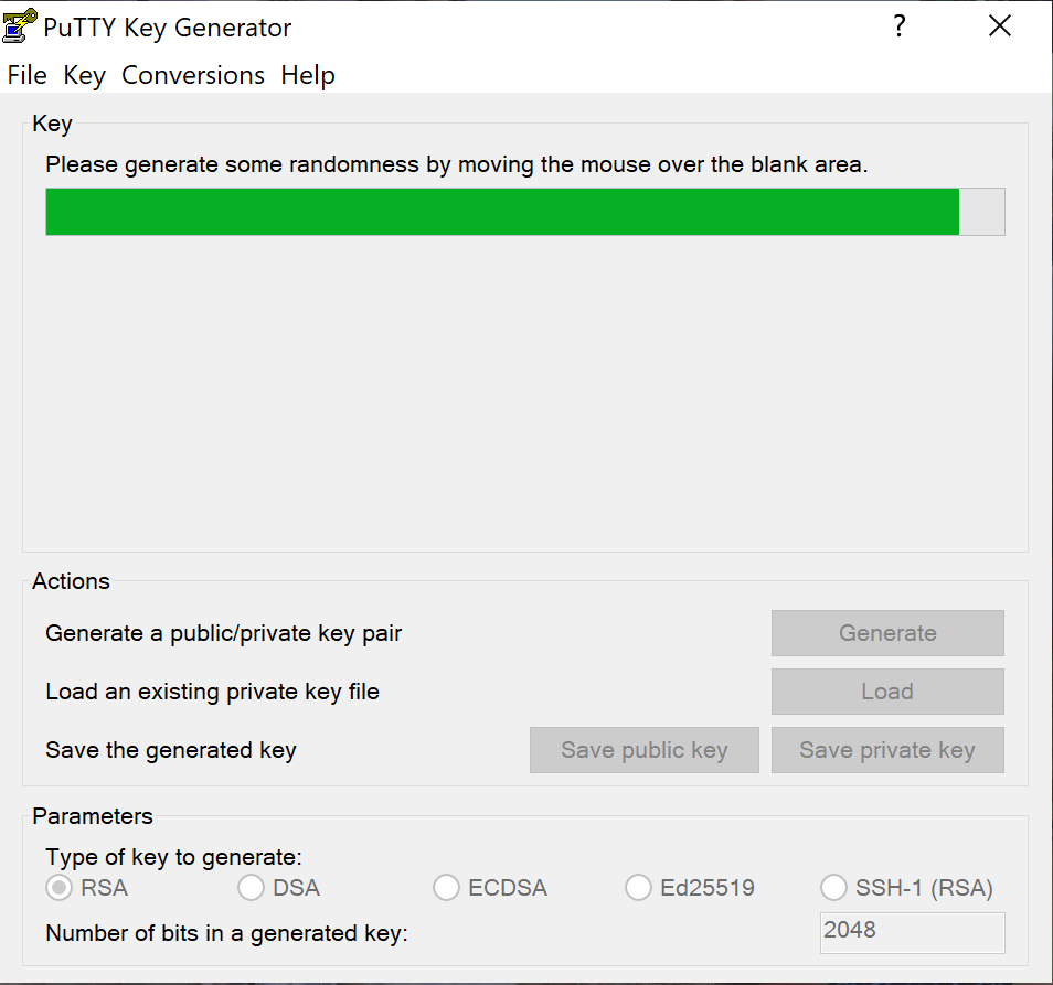 putty gen hora de mexer o mouse