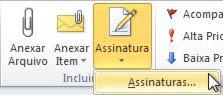 botão assinaturas no outlook 2010