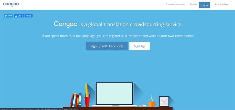 site de freelance de tradução conyac