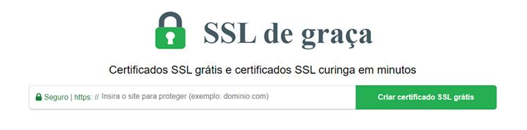 barra de endereços do ssl let's encypt