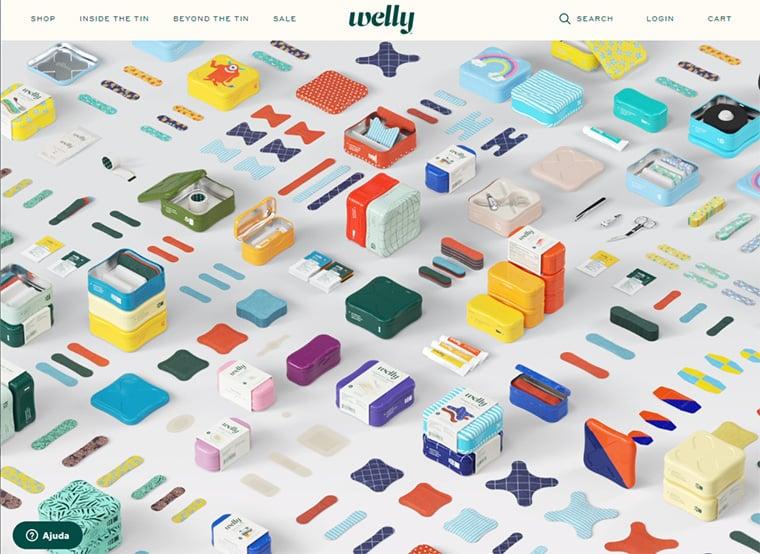 exemplos de ecommerce welly