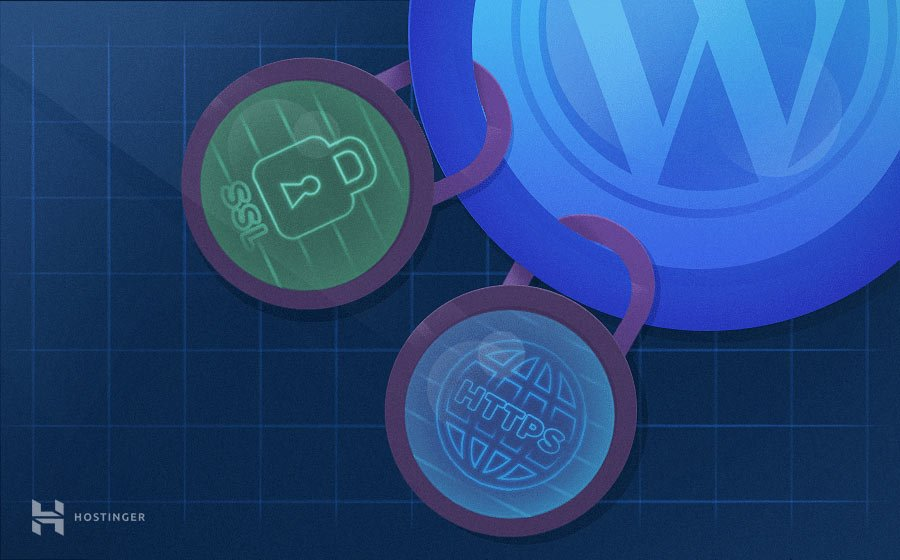 cadeados do ssl e do https presos no logo do wordpress