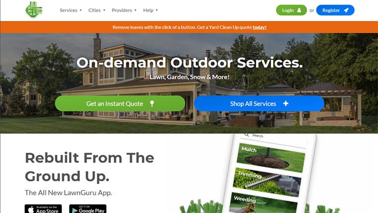 exemplo de e-commerce lawn guru